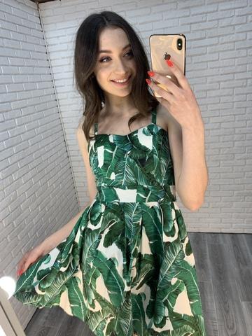 сарафан с зелеными листьями интернет магазин