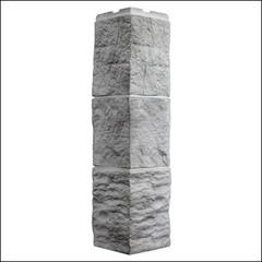Наружный угол для фасайдинга FineBer Дачный Туф 3D-Facture Светло-серый
