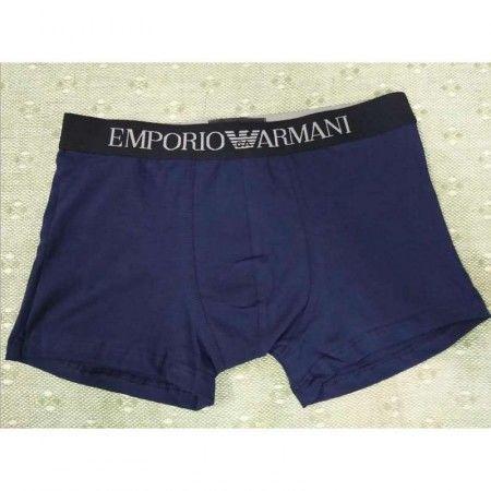 Мужские трусы хипсы темно-синие с черной резинкой Emporio Armani