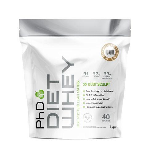 PhD Diet Whey, диетическая протеиновая смесь, вкус Белый Шоколад, 1 кг.