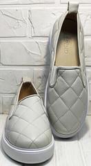 Стильные слипоны туфли под джинсы женские Alpino 21YA-Y2859 Cream.