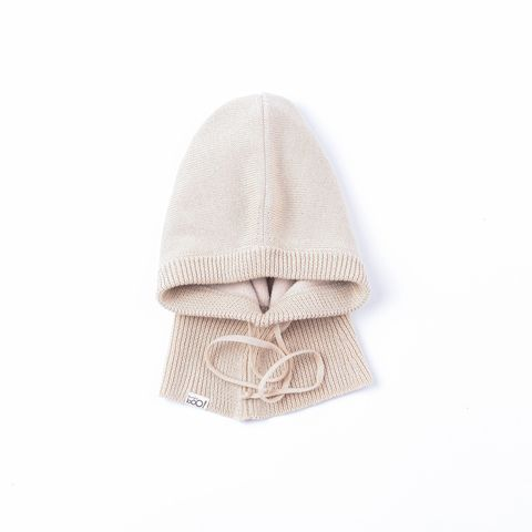 Knitted hooded scarf - Tofu