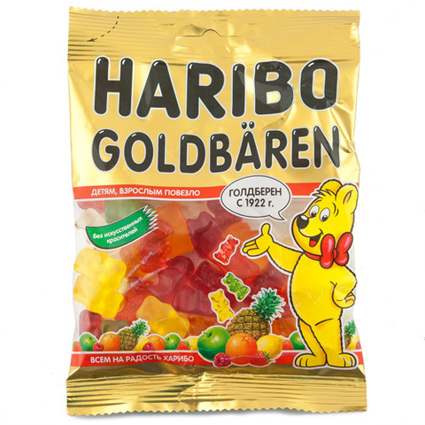 "Мармелад ""Haribo"" жевательный Goldbaren 70г"