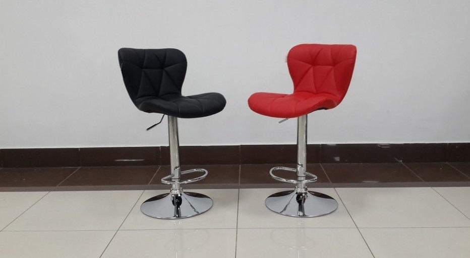 Стул барный BCR-109 Black (черный) и Стул барный BCR-109 Red (красный)