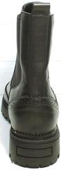 Обувь весна осень женская Jina 7113 Leather Black