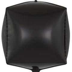К Шар 3D Куб, Черный, 24''/61 см,  1 шт.