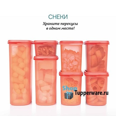 Набор компактусов Организатор (500мл /1,1лx4/ 1.7л / 2,3л)