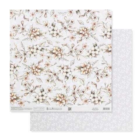 Бумага для скрапбукинга «Нежные свадебные цветы», 30.5 × 32 см, 180 гм