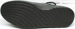 Кожаные мужские кеды кроссовки с черной подошвой весна осень Ikoc 1725-1 Black.