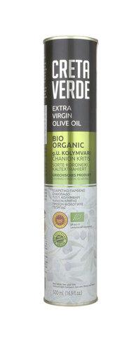 Оливковое масло CRETA VERDE ОРГАНИК с острова Крит PDO  500 мл металл
