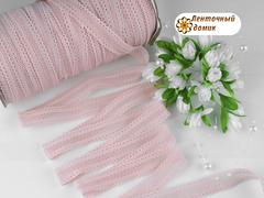 Резинка ажурная для повязок пудровая 16 мм