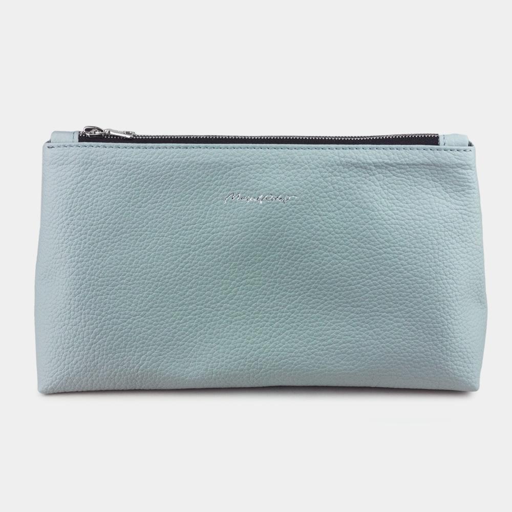 Женская косметичка Etoile Easy из натуральной кожи теленка, голубого цвета