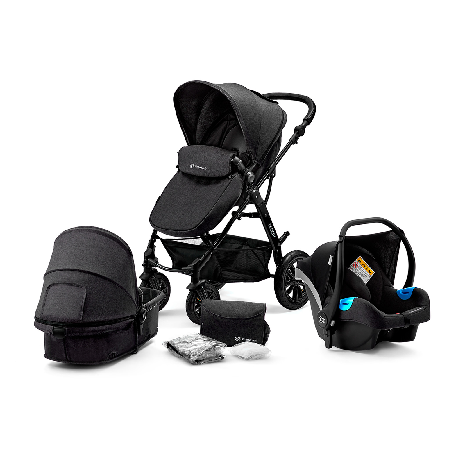 Коляска 3 в 1 Kinderkraft Moov Black