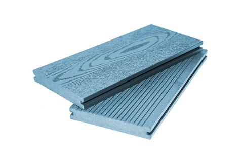 Террасная доска  полнотелая 140 мм Синяя