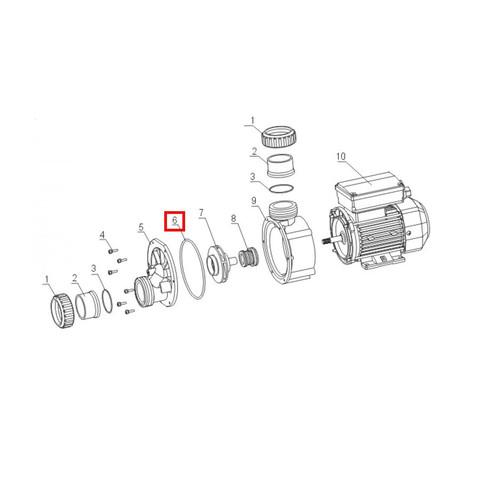 Уплотнительное кольцо корпуса для насоса Aquaviva JA O-ring №6 / 21051
