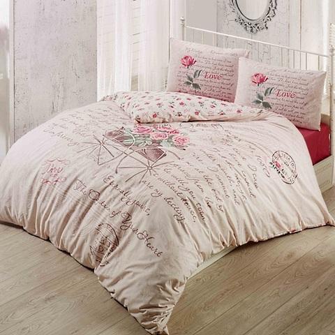 1.5-Спальное постельное белье ранфорс TRUE LOVE