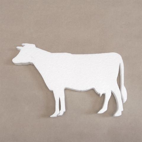 Корова из пенопласта силуэт