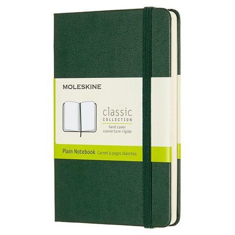 Блокнот Moleskine CLASSIC QP012K15 Pocket 90x140мм 192стр. нелинованный твердая обложка зеленый