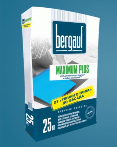 Клей для плитки Бергауф Максимум плюс 25 кг