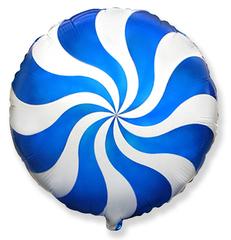 F Мини-круг, Леденец, карамель, конфета, Синий, 9''/23 см, 5 шт.