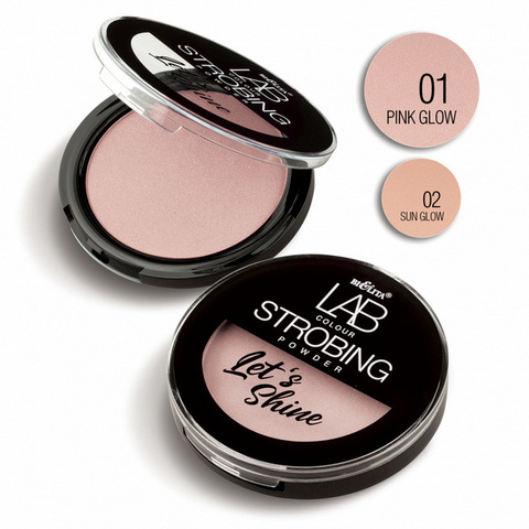 Пудра-стробинг LAB colour Let`s Shine тон 01 pink glow , 10 гр ( Белита )