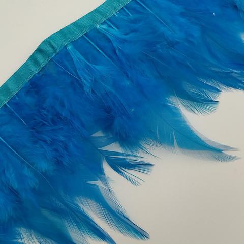 Тесьма  из перьев петуха h- 8-10см., бирюзовый