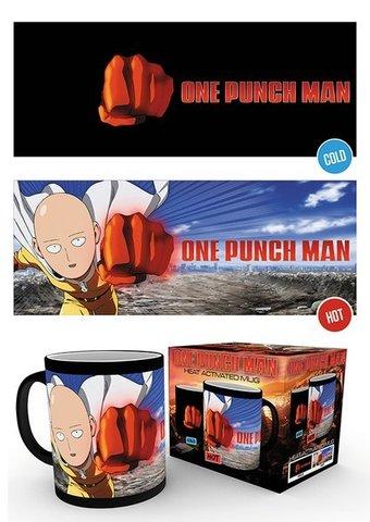 Кружка, меняющая картинку «One-Punch Man»