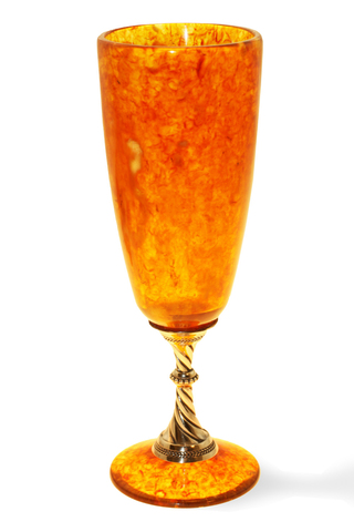 Бокал из янтаря для шампанского