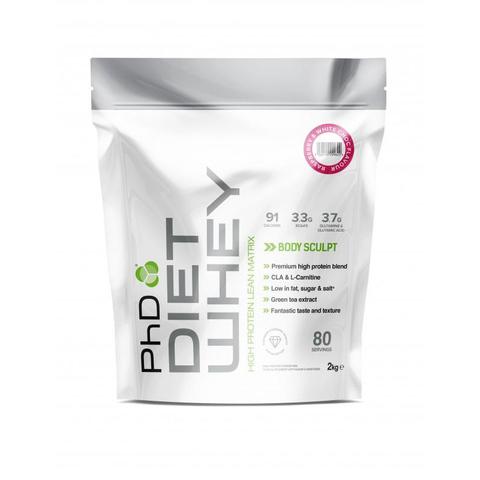 PhD Diet Whey, диетическая протеиновая смесь, вкус Белый Шоколад/Малина, 2 кг.