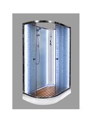 Душевая кабина DETO ЕМ1511 R N 110х80 см с LED-подсветкой