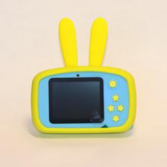 Фотоаппарат детский SmileZoom Зайчик с селфи-камерой / 20 Мп / Желтый