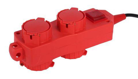 Удлинитель силовой Уз16-02/02 TDM (с крышками IP44, 4 места/20м КГ3х1,5)