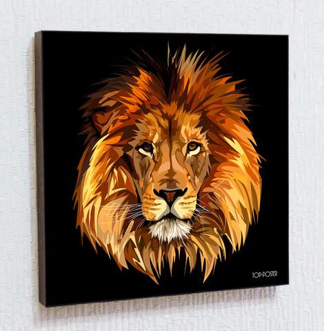 Картина постер Лев в стиле ПОП-АРТ