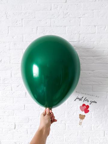 Воздушный шар темно-зеленый хром