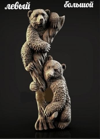 Силиконовый молд Медвежата ( молд левый) большой