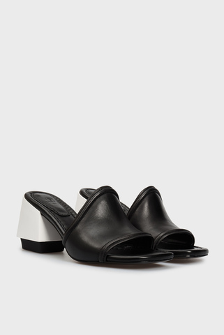 Женские черные кожаные мюли Karolina PRPY