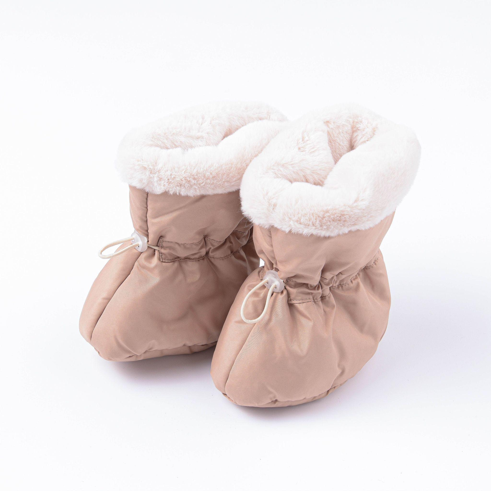 Warm fur boots 0+, Heavy Cream