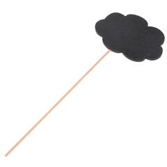 Топпер деревянный меловой на палочке, 10*7 см.