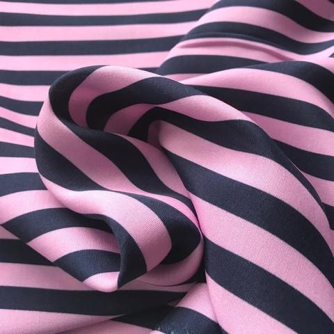 Ткань вискоза в розовую полоску 3250