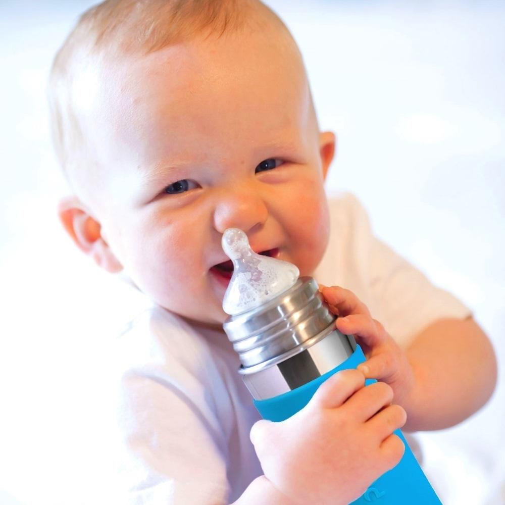 Детская стальная ТЕРМОбутылочка для кормления Pura Kiki® 255 мл