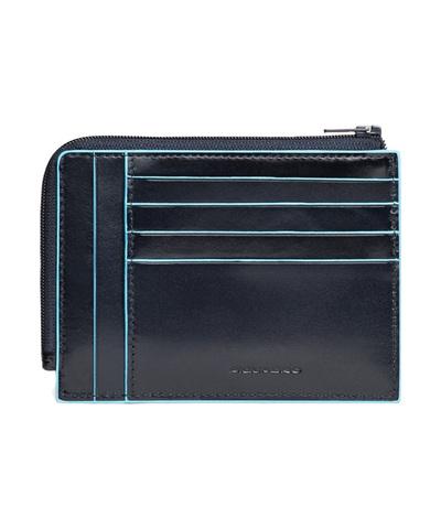 Чехол для кредитных карт Piquadro Blue Square, синий, 8 отделений, 12,5x9x1 см