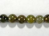 Бусина из граната зеленого, шар гладкий 8 мм