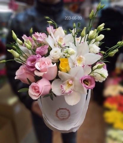 Цветы в шляпной коробке #1295