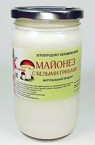 Майонез с белыми грибами 350г. Беловежский Агропродукт