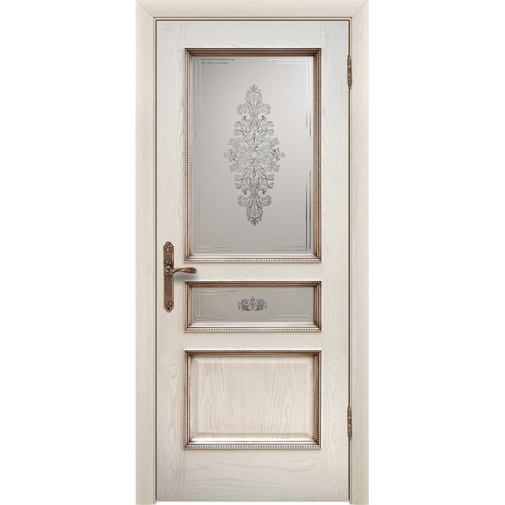 Популярное Межкомнатная дверь шпонированная Дворецкий Альба ясень карамельный с патиной остеклённая alba-do-yasen-patina-dvertsov.jpg