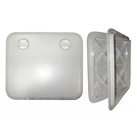 Крышка рундука 360х600, с замком, пластик, белая