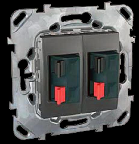 Аудиорозетка двойная. Цвет Графит. Schneider electric Unica Top. MGU5.8787.12ZD
