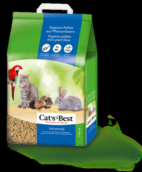 Наполнители Древесный наполнитель для кошачьего туалета Cat's Best Universal, впитывающий универсал.png