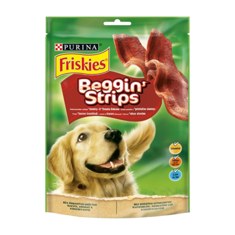 Friskies Beggin' Strips Лакомство для взрослых собак с ароматом бекона