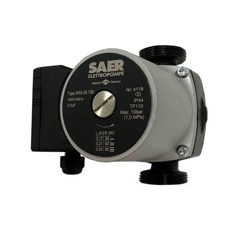 Насос циркуляционный SAER W55-25 130мм + гайки